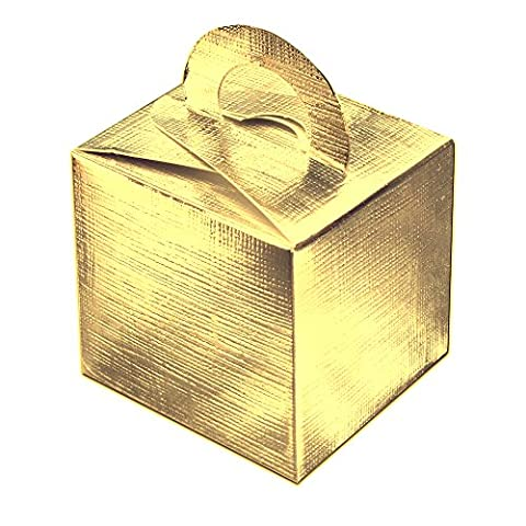 10 Pack of Cute Favour Gift Boxes in Shiney Foil Gold *REDUCED TO CLEAR*