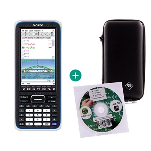 Casio Classpad II (FX-CP400) + Lern-CD (auf Deutsch) + Schutztasche