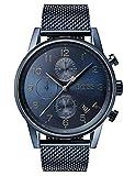 Hugo Boss Hommes Chronographe Quartz Montres bracelet avec bracelet en Acier Inoxydable - 1513538
