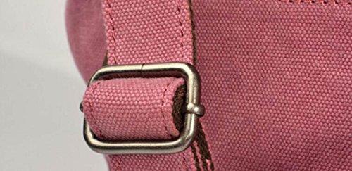 Leinwand Echtes Leder Rucksäcke Schultaschen Freizeit Reise Outdoor-Handtasche Umhängetasche Daypack,Brown-Small Brown-Large