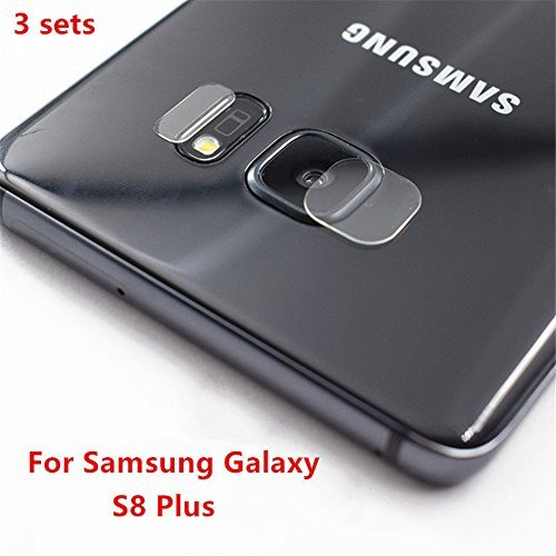 Interesting Rear Camera Lens +Flash Tempered Glass Protector Film For Samsung Galaxy S8 Plus - 3 Sets