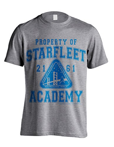 Star Trek Starfleet Academy Captain Kirk Spock Official Tee T-Shirt Mens Unisex