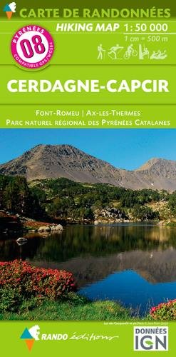 Cerdagne - Capcir - Pyrenees Catalunya NRP 8 2016 (Carte de randonnées) por Rando éditions