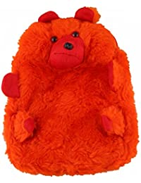 JBB Original Cute Teddy Soft Toy School Bag For Kids, Travelling Bag, Carry Bag, Picnic Bag, Teddy Bag (Cute Orange).