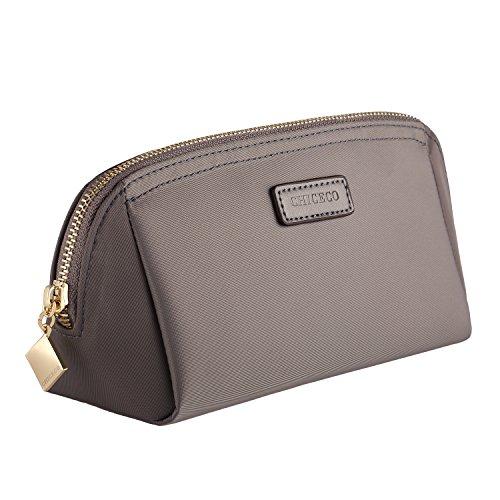 CHICECO Nylon Klein Kosmetiktasche Damen Schminktasche für Handtasche Makeup Tasche - Grau -