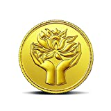 #10: MMTC-PAMP India Pvt. Ltd. Lotus series 24k (999.9) purity 5 gm Gold Coin