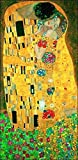 Migneco & Smith l'Affiche ILLUSTREE Klimt Serie Gold Il Bacio Applicazioni di Vera Foglia Oro A Caldo su Carta Speciale di Alti Spessore E RIGIDITA' E di GRAMMATURA 350. CODICE lux34089 cm.50 x 100