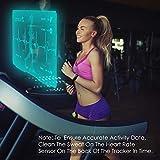 CHEREEKI Fitness Armband, Wasserdicht IP68 Fitness Tracker mit Pulsmesser Farbbildschirm Fitness Uhr Aktivitätstracker Schrittzähler Uhr Smartwatch SMS Anruf Beachten für Damen Herren (Schwarz) - 7