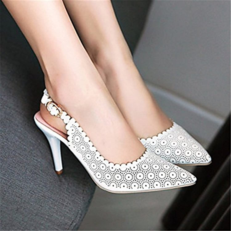 YFF Scarpe donna Stiletto Heel Sling back Punta sandali talloni,Bianco,US8.5 | bello  | Uomini/Donne Scarpa