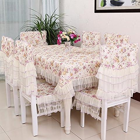 Rivestimento in pizzo tessuto pastorale/Copertine per retro tappezzeria sedie Kit-E
