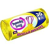 Handy bag -  Bolsas de basura, color amarillo, 30 L, 15 unidades