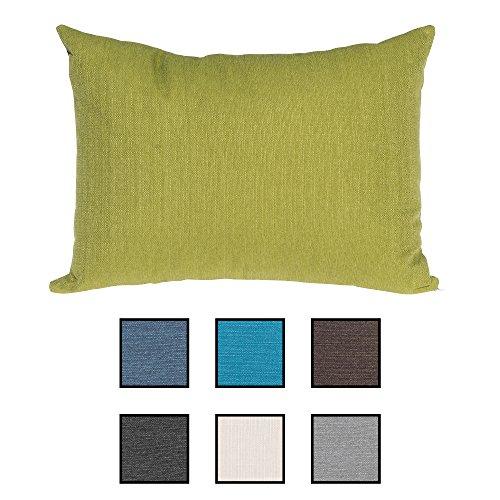 Sabeatex® Sofakissen super praktisch gefüllt mit einem 2teilig. Gästebett. Lounge Rückenkissen, Kopfkissen, Couch- oder Palettenkissen, Dekokissen Strukturpolsterstoff in 7 Unifarben für trendiges Wohndesign. Größe 60x80 cm Farbe: (Grün)