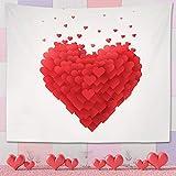 TUPARKA Heart Decor Tapestry Arazzo da Appendere a Parete per Soggiorno Camera da Letto, Decorazioni di San Valentino Anniversario Decorazione di Moda Decorazione, 80 W X 60 L Pollici