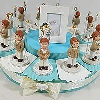 Sindy Bomboniere - Tarta bombonera para Primera Comunión, con figurita de niño y cáliz con