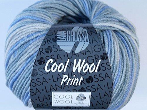 online store d6a1c 12de8 Preiswert LANA GROSSA COOL WOOL PRINT, 795 - Grège   Mint   Hell ...