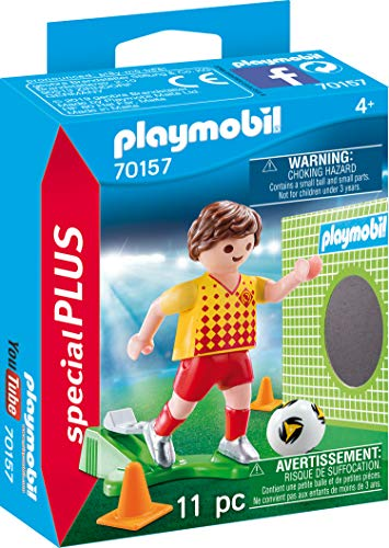 Playmobil 70157Special Plus Jugadores Fútbol Puerta