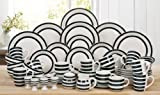 50 Piece Burford Black Stripe Dinner Set
