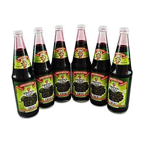 flaschen verschicken Aronia-Direktsaft von der Spreewaldmosterei 6er Pack (6 Flaschen à 0.7 l)
