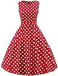 Rotes kleid mit weiben punkten damen