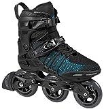 Powerslide Phuzion Xenon Men 100 Trinity Fitness Inline Skates schwarz-türkis schwarz-weiß, 41