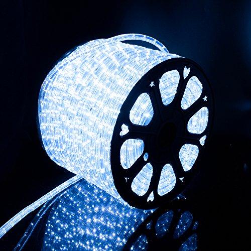 LED Lichterschlauch Lichterkette außen Licht Leiste 36LEDs/M Schlauch für Innen und Außen IP65 50M Kaltweiß