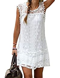 Robe de plage blanche porte