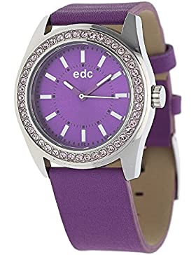 edc by Esprit Damen-Armbanduhr disco glam lust Analog Quarz Plastik EE101132008