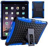 G-Shield Hülle für iPad Air 2 Stoßfest Schutzhülle mit Ständer - Blau