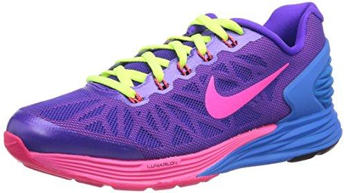 Nike Lunarglide 6, Chaussures de running fille Multicolore (Hypr Grp/Hypr Pnk/Hypr Crmsn/P)