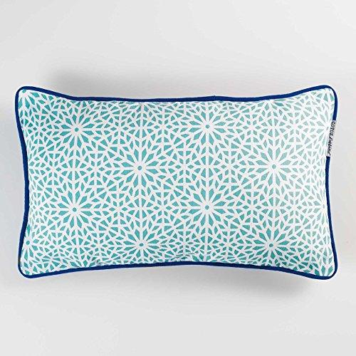 Coton d'interiur - Cojín Túnez con ribete, 30x 50cm, algodón,  diseño...