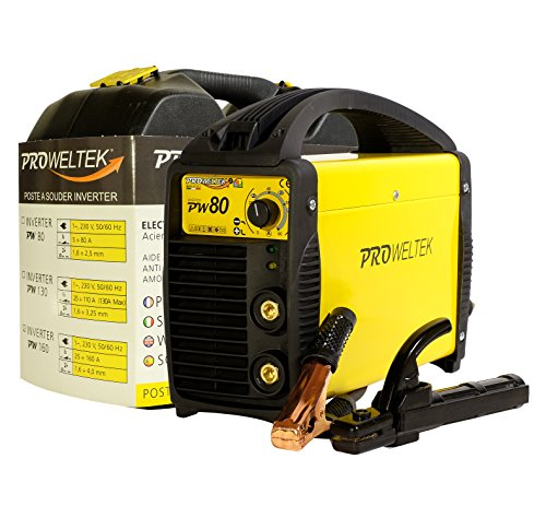 proweltek estación de soldadura inverter 80A incluye: maletín, cortador de masa, puerta electrodos