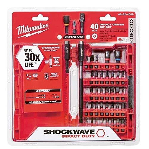 Impact Drill Bit (Milwaukee 48-32-4008Shockwave Impact Duty Treiber Bit Set (40))