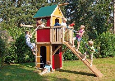 Winnetoo Spielturm Kletterturm bunt GP854, Kletterturm, Spielplatz, Kletterwand, Baumhaus, Klettersteg, Stelzenhaus, Kletterleiter, Spielhaus