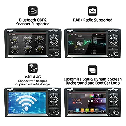 Android-90-Double-DIN-Autoradio-fr-Audi-A3-2003-2011-HD-178-cm-2G-RAM-32-G-ROM-Auto-Audio-GPS-Navigation-Headunit-Support-WiFi-4G-Bluetooth-Lenkrad-Google-DAB-OBD-Free-Backup-Kamera-Canbus
