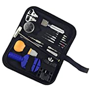 LOVIVER 13PCS Watch Repair Kit, Professional Spring Bar Tool Set Watch Band Link Pin Tool Set with Carrying Case