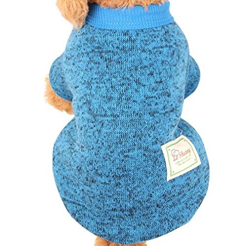Nette Haustier Hundestrickjacke, Hmeng Einfarbig Wolle Pullover Haustier Welpen Katzen Warmes Hund Mantel 5 Größen 11 Farben (S, (Kostüme Tshirt Kind Batman)