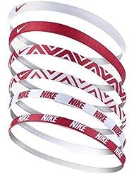 Nike Impreso Head Bands 6Pack, rojo/blanco
