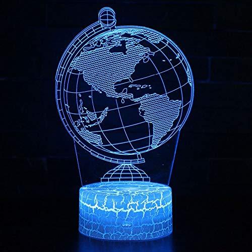 GUANGYING Luz nocturna Globo Temático Lámpara 3D Luz De La Noche Luz 7 Cambio De Color Toque De Humor Lámpara Regalo De Navidad