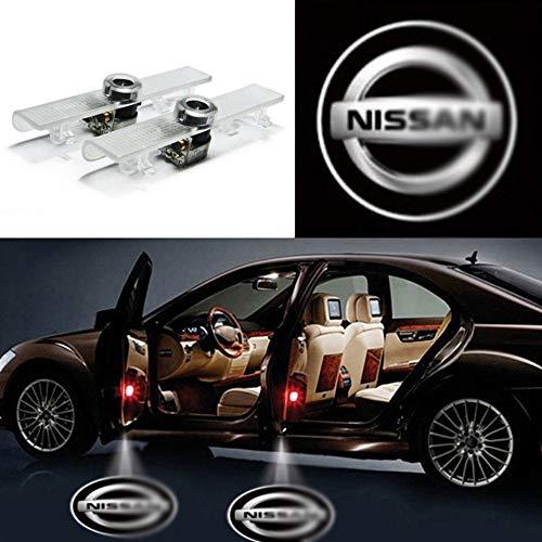 YYD 2pcs Misura per la Luce del proiettore della Luce della Porta di Automobile del LED di Nissan Luce Benvenuto Lampadina di Logo dell'automobile della Lampadina corredo Compatibile con Nissan