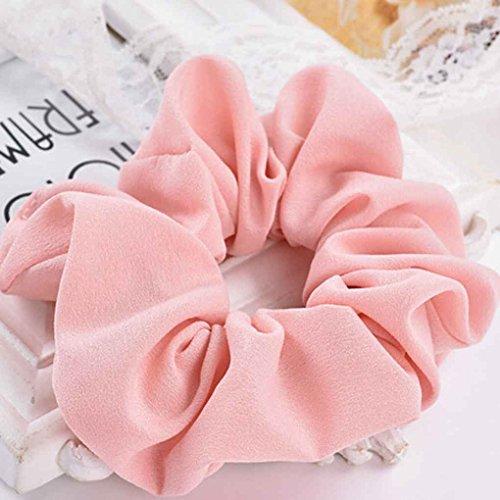 Zerama Frauen elastische Chiffon-Haar-Bänder Scrunchie Haar-Riegel-Ring-Seil-Pferdeschwanz Donut Grip Schlaufenhalter Stretchy Hair
