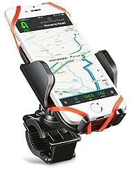 Soporte de Móvil y Cámara Deportiva para Bicicleta Motocicleta, Mpow Soporte Universal Apoyo 360 Rotación,con 2 Silicona Banda,Brazo Ajustable Compatible con iPhone 7/Plus/6/6s/plus,Google Nexus 5/4, HTC y Dispositivo del GPS.