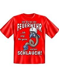 Lustige Geschenke für Feuerwehrmänner, Feuerwehr Fun T-Shirt / Lustige Sprüche Funshirt zum Geburtstag / Weihnachten