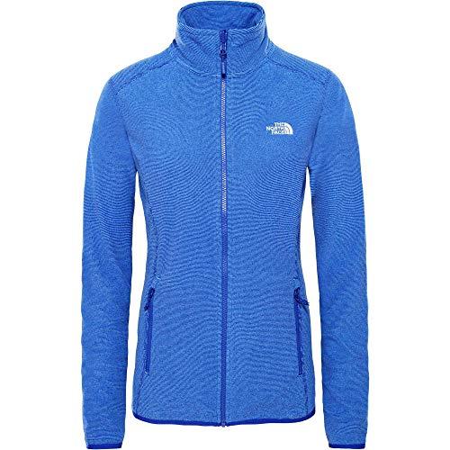 THE NORTH FACE Damen 100 Glacier Jacke, Lapis Blue Stripe, XL 100 Polyester Fleece-jacke