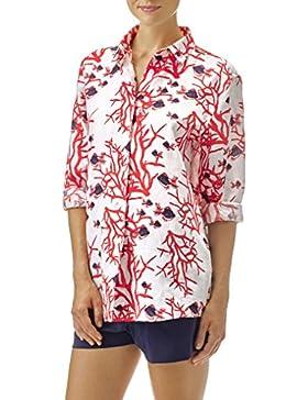 Vilebrequin - Camisa Fonda de lino con estampado Coral & Fishes - Mujer