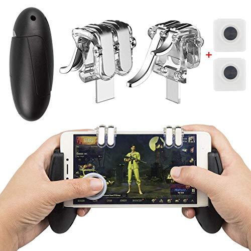Electronic Arts EAONE Mobile Game Controller, 2-in-1-Gamepad-Joysticks: Aim Fire löst sensiblen Shoot mit 2Pcs-Joystick für PUBG / Rules für iOS Android 4.7-6.44 Zoll-Handy