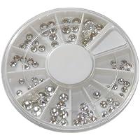 NAILFUN ® - Pietre strass in cristallo Swarovski in contenitore, 72 pezzi, dimensioni: 1,5 - 5 mm, qualità nail art