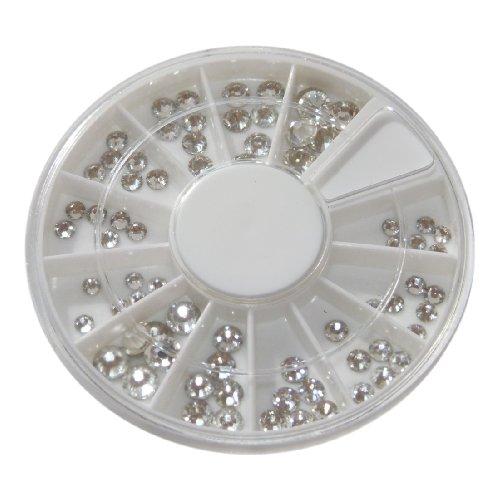 72 Swarovski Strasssteine Kristall im Rondell - Größe 1,5 - 5 mm - in höchster Nailart Qualität