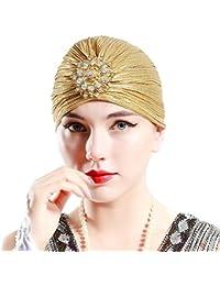 ArDeco Turbante Cappello dell involucro della testa del Knit pieghe del  turbante delle donne Turbante efd9ae992217