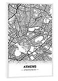 artboxONE Poster mit weißem Rahmen 30x20 cm Städte Athens