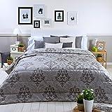 Sancarlos - Edredón conforter añoranza gris gris - densidad 250 g. - Fibra hueca siliconada - esquinas redondeadas